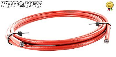 """Braided Brake Hose Stainless Steel AN3 3//16/"""" PTFE Performance no PVC 1m"""