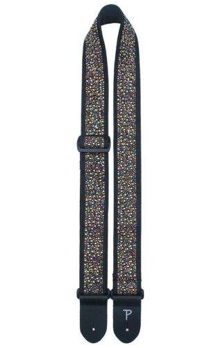 """2/"""" Wide Rhinestone Studded Jacquard Guitar Strap From Perri/'s Made in Canada"""