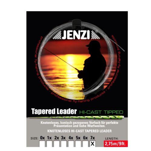 0,12// 0,44 Tapered Leader Fliegenvorfach knotenlos Loop konisch 2,4m 7x