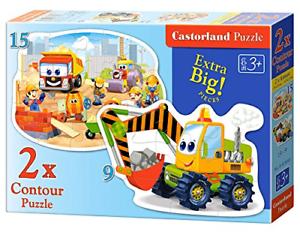 Castorland B-020065 Contour des travaux de construction Puzzle 2 Puzzle Set Multi