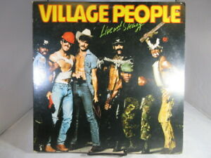 Village-People-Live-and-Sleazy-2x-VINTAGE-VINYL-LP-NBLP-2-7183-VG-c-VG
