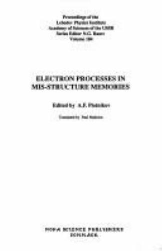 Electron Processes in Mis-Structure Memories, Hardcover by Plotnikov, A. F. (...