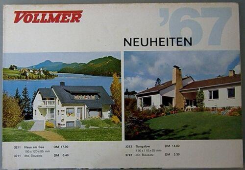 Vollmer Neuheiten Modellbahn-Zubehör H0 + N 1967 (32906)
