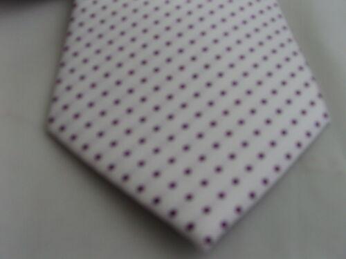 blanc avec violet POLKA Noeud Papillon Homme dots-silk cummerbund /& hankie set 002