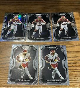 2020 panini chronicles chase young antonio gibson prizm black silver lot Rc