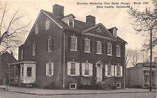 NEW CASTLE DE~SEN NICHOLAS VAN DYKE HOUSE~BLT 1797~CHALLENGER ALBERTYPE POSTCARD