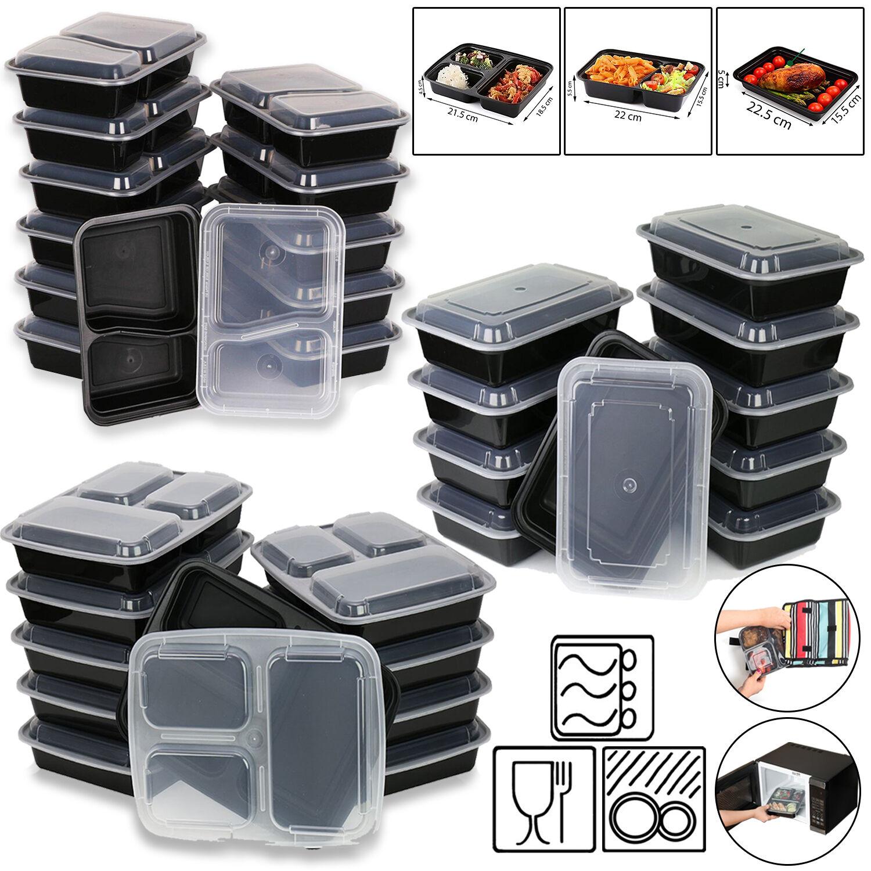microwave dishwasher safe food storage lunch box container prep meal organizer ebay. Black Bedroom Furniture Sets. Home Design Ideas