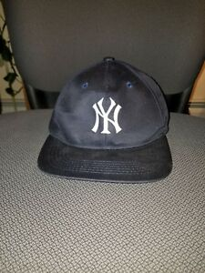 Image is loading New-york-yankees-hat-adjustable-snapback-1990s-SGA- 95c2cacb2638