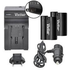 Vivitar Dual Battery EN-EL15 & Charger Kit for Nikon D610 D7000 D7100 D7200 D750
