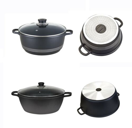 Non Stick Casserole Stockpot Stew Soup Pan Pot Replacement Tempered Glass Lids