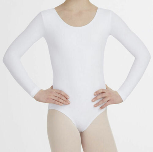 Girls Kids Uniform Leotard School Dance Gymnastics Ballet Long Sleeve//Sleeveless