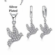 Cute Dove Necklace & Earrings Set