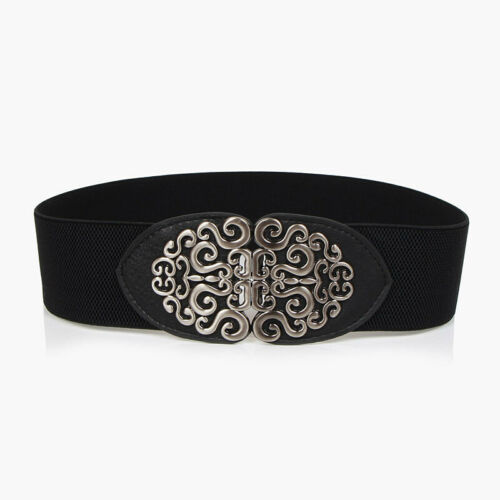 Lady Women Wide Corset Cinch Belts Stretch Elastic Retro Waistband Decor Fashion