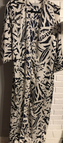 Vintage Mary McFadden Collection Robe Size Large