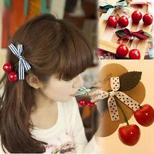 NEW  Kawaii Cute Japanese Mori Girl Sweet Lolita Cherry Hairpin Hair Accessories