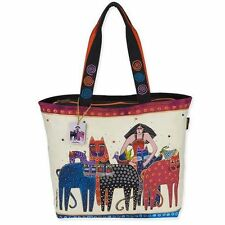 bb3870c8b8 Eta Friends Laurel Burch Large Canvas Oversized Purse Shoulder Tote Bag  Handbag