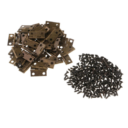 50 Stücke Vintage Eisen Mini Scharniere Holz Schmuckschatulle Kabinett