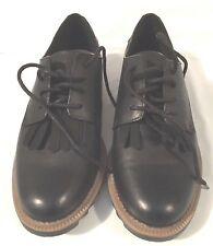Clarks Griffin Mabel Black Women Oxford Shoes US Size 7M