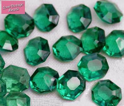Vintage Aquamarine West German Flatback Chaton Rose Foiled 20ss 4.6mm Pk of 30
