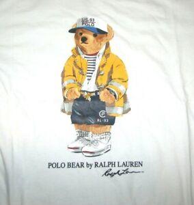 "Men's (XL) POLO-RALPH LAUREN ""CP-93 BEAR"" Crewneck T-Shirt (Sailing)"