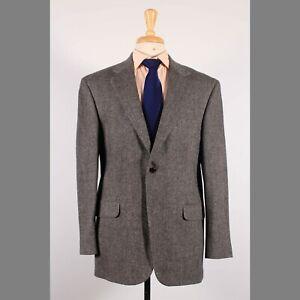 Lands' End 42R Gray HB Wool Two Button Sport Coat Blazer Jacket