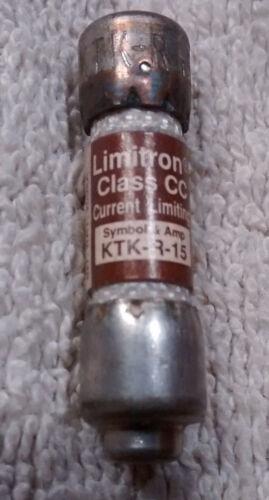 1 NOS Bussmann Limitron Class CC KTK R 15 15 amp 600 volt fuse KLKR 15