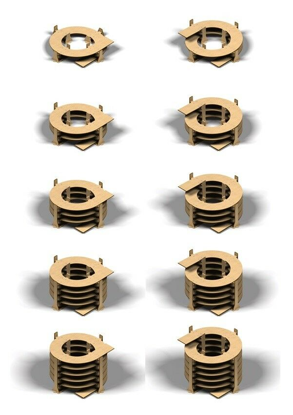 Gleiswendel Spur N, Spur Z 2-gleisig, 6mm Sternk, 1-5,5 Umdrehungen frei wählbar