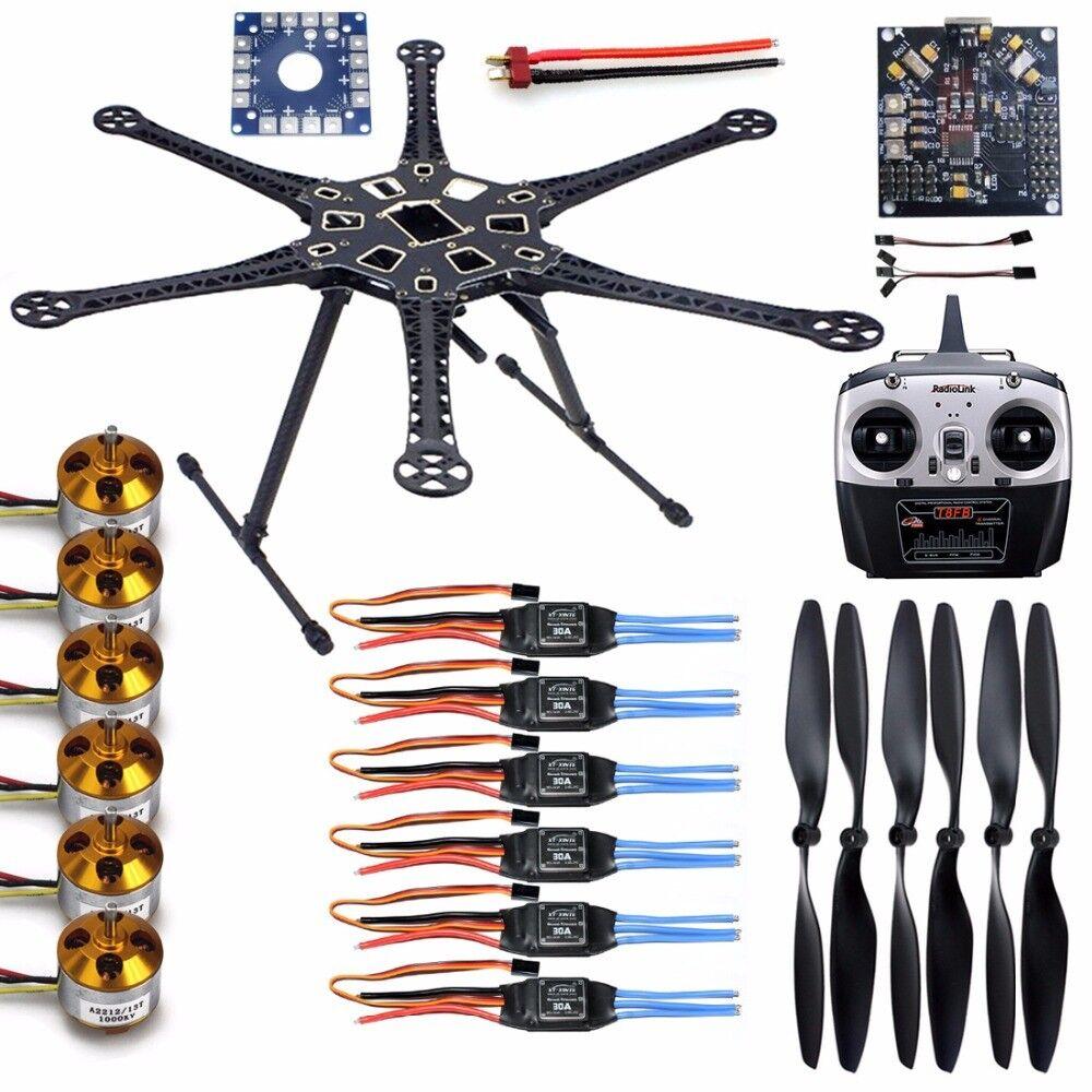 S550 Kit de F550 Hágalo usted mismo Drone Hexacopter 6-Axis Kit de marco RC helicóptero F08618-A