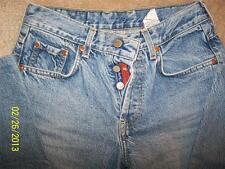 Vtg 90's LUCKY BRAND Highwaist Faded Denim Jeans Dungarees Buttonfly USA sz 4/27