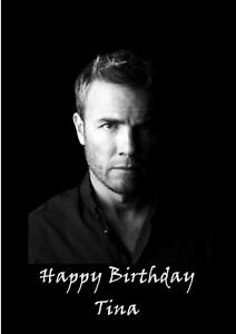 Image Is Loading Personalised A5 Gary Barlow Birthday Card Any Age