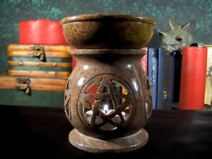 4-1-2-034-Pentagram-Soapstone-Oil-Diffuser-Warmer-Burner-Pentacle-OIL21