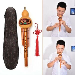 Chinese-Hulusi-Gourd-Cucurbit-Flute-Ethnic-Musical-Instrument-Key-Of-C-With-CaME