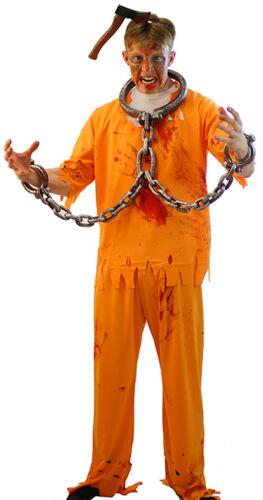 Orange Gefangene Halloween//Gruselig//Überführen 5 Asyl Zombie Alle Herren