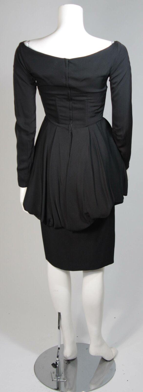CEIL CHAPMAN Black Draped Princess Style Waist Dr… - image 5