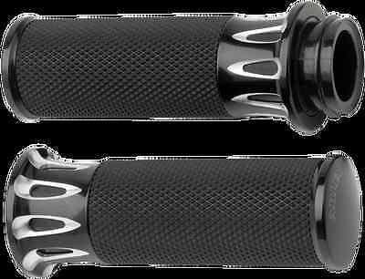 Avon Black Memory Foam TBW Hand Grips for 08-17 Harley Dyna Touring FLHX