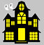 2-6 Halloween Haunted House #2 Die Cut Embellishment Cutout Scrapbook Cards