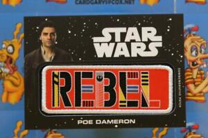 Journey to The Rise of Skywalker Jumbo Patch Card Poe Dameron