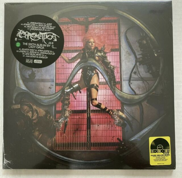 Lady Gaga Chromatica RSD Lts Trifold Yellow Vinyl LP RECORD STORE DAY IN HAND