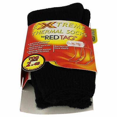 Ladies Red Tag Black thermal socks     UK 4-8   41B283