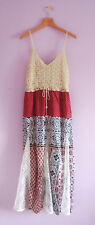 J Gee Maxi Dress M Petite NWT Boho Chic Crochet Overlay Bodice Lace Inset Skirt