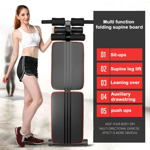 Foldable Decline Sit Up Bench Crunch Board Fitness Home Gym Exercise Sport