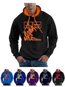 Eat Sleep Skateboard Hoodie Sweatshirt - Smartphone Compatible
