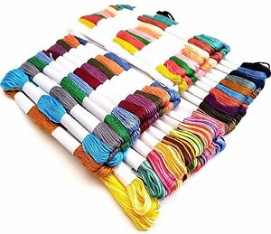 80-x-Embroidery-Thread-Skeins-Cotton-Cross-Stitch-Sewing-Braiding-Beading-Crafts