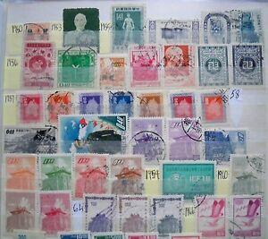 (WK61) 1950-1993 Taiwan mix approx 90stamps F/U