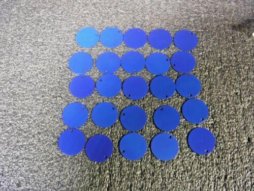 "Round Aluminum 25 PK MG BRADY Blue Blank Tag 49907, 2/"" Height"