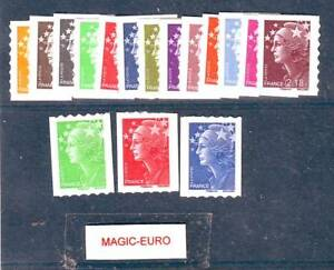 FRANCE-2008-MARIANNE-AND-EUROPE-ADHESIVE-COMPLETE-SET-16-VALUES-RARE