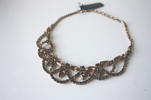 NWT-Jcrew-Bronze-Brass-Glass-Antique-Lace-Stone-Crystal-Necklace