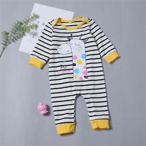 ac0f62a00 Baby Boys Girls Newborn Cute Striped Sleepsuit Bodysuit Romper ...