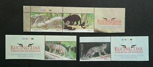 SJ-Endangered-Big-Cats-Malaysia-2013-Tiger-Leopard-Wildlife-stamp-title-MNH