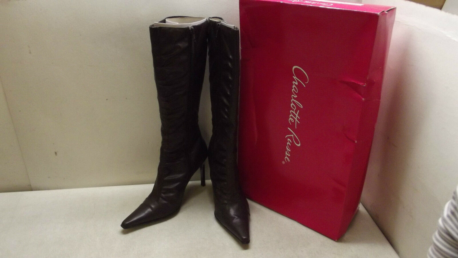 CHARLOTTE RUSSE TALL BOOTS WOMEN'S SIZE 8 CHOCOLATE BROWN